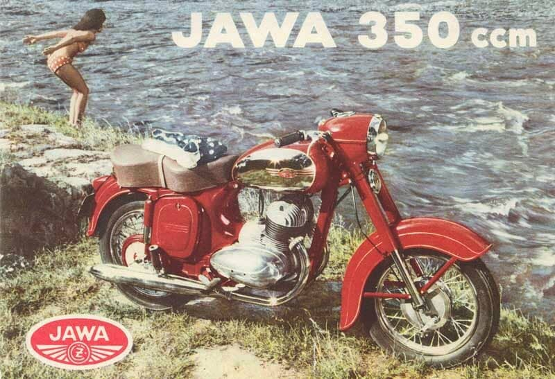 JAWA 350 by the water