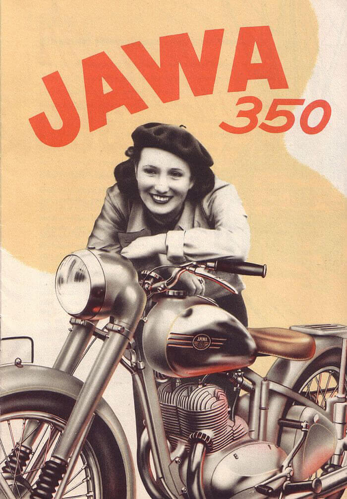 JAWA 350 motorcycles emerged from behind the iron curtain