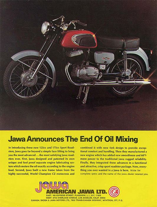 JAWA announces the end of oil mixing